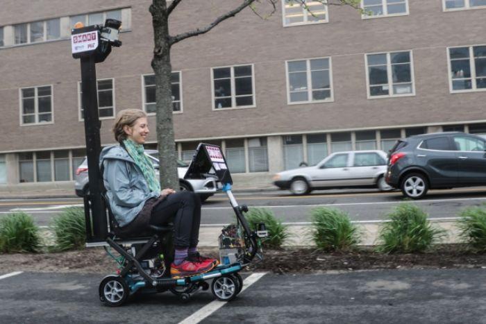 Un scooter eléctrico autónomo