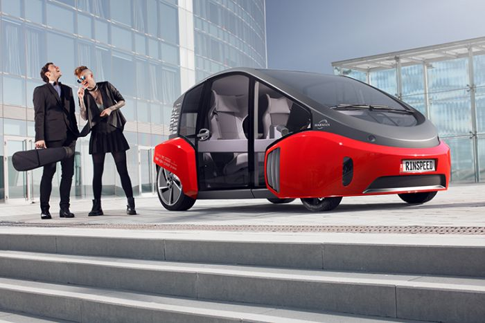 Rinspeed presents its Oasis urban car at CES and NAIAS