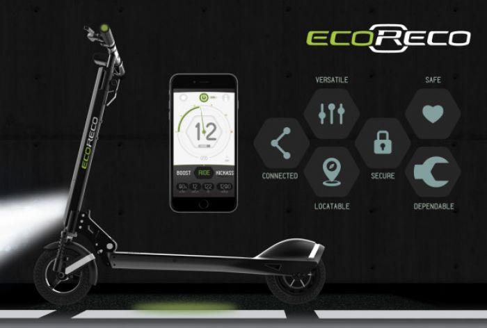 EcoReco Modelo R, un patinete eléctrico inteligente