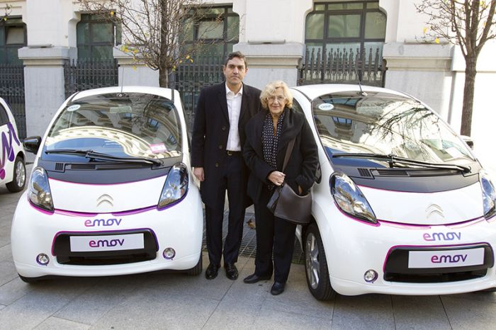 Madrid with the electric vehicle