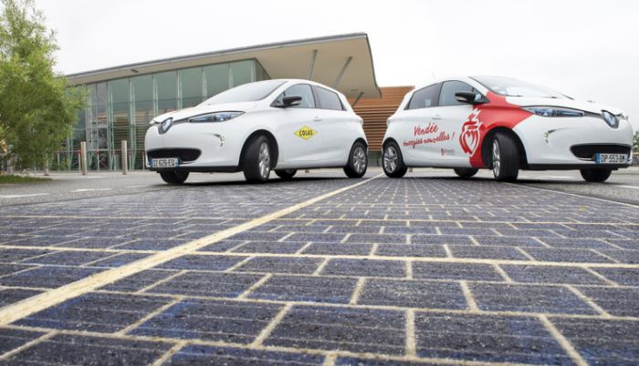 Wattway, the first solar road in France