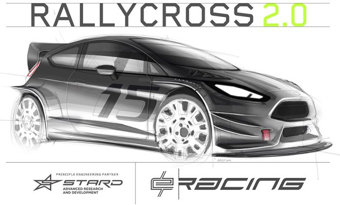 E-Racing, electric powered rallyecross cars
