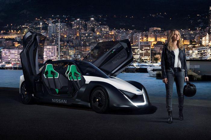 Nissan BladeGlider con la atriz Margot Robbie