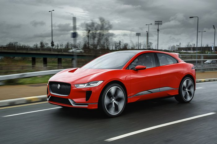 Jaguar I-Pace on the road