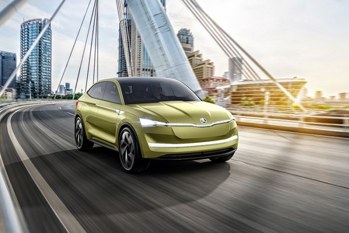Skoda presents electric vehicle at Shanghai Motor Show