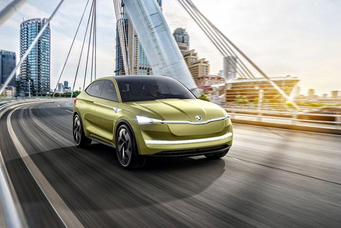 Skoda presents electric vehicle at Shanghai Motor Show