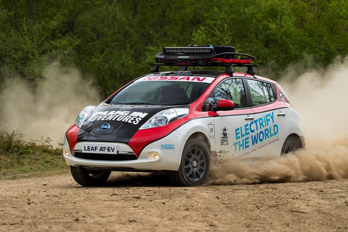 Nissan Leaf AT-EV enters Mongol Rally
