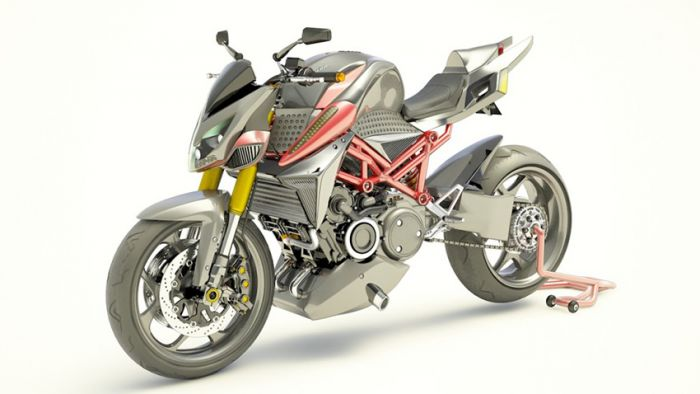 Furion, hybrid motocycle with rotary engine