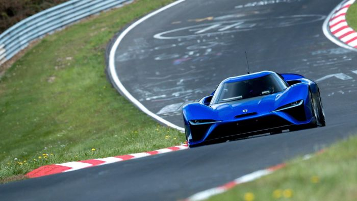 NIO EP9, the quickest electric car on the Nürburgring