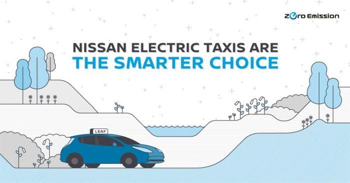 Nissan lidera la revolución del taxi eléctrico