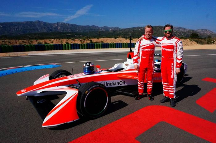 Mahindra presents new Formula E racing car at Goodwood