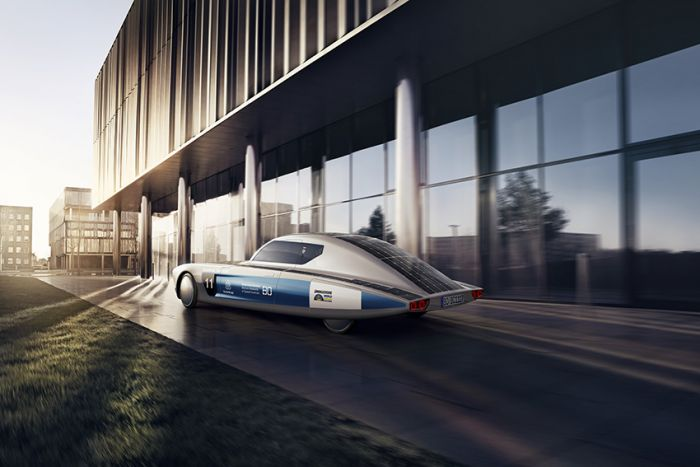 Blue cruiser - solar energy with an extraordinary design
