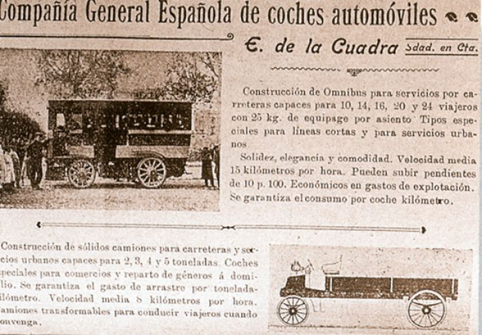 Electric bus in Barcelona 1900