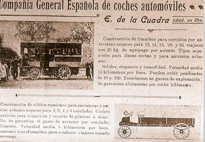 Elektrischer Bus in Barcelona 1900 - Autobús eléctrico de 1900