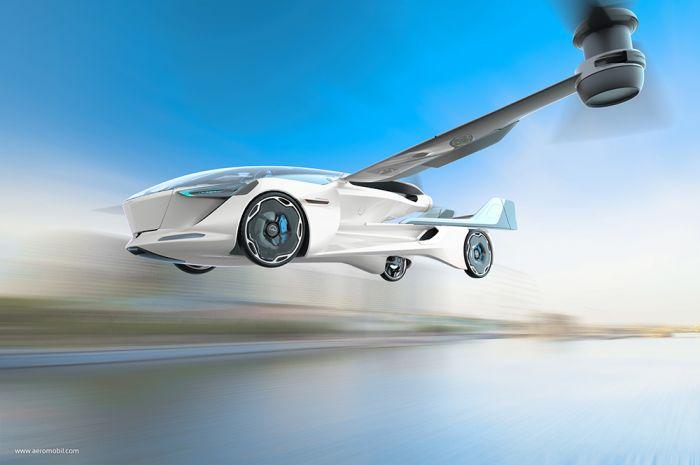AeroMobil presenta el coche volador totalmente eléctrico
