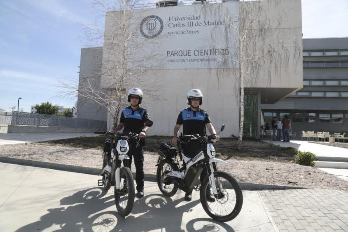La Bultaco Brinco con la policia