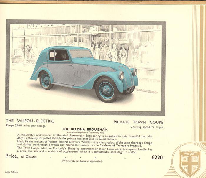 Vehículos eléctricos de los años 30