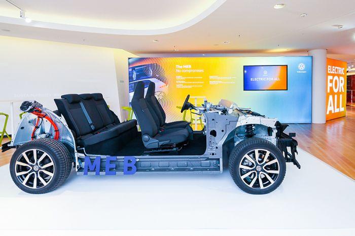 World Premiere of Modular Electric Drive Volkswagen Matrix