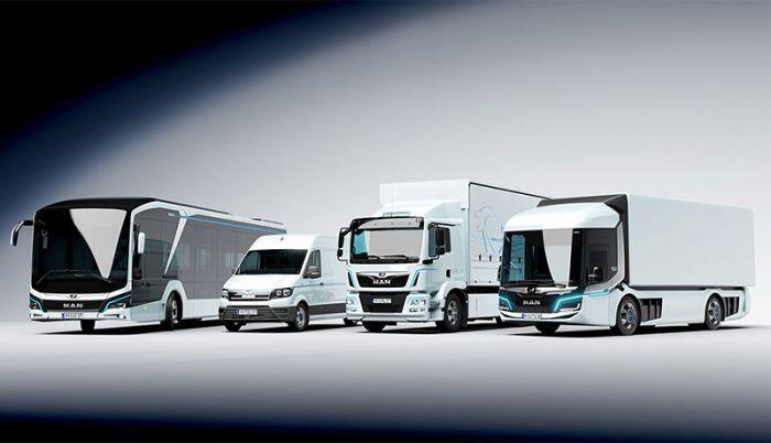 MAN y Mercedes presentan camiones y autobuses eléctricos