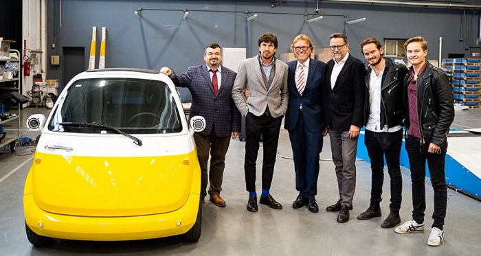 The swiss bubble-car Microlino will be built in Germany
