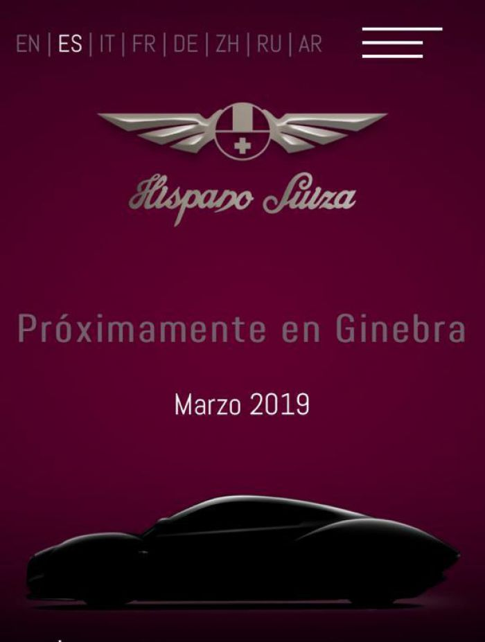 The electric Hispano-Suiza at Geneva Motor Show