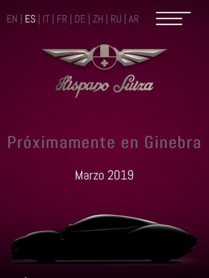 Hispano-Suiza en Ginebra