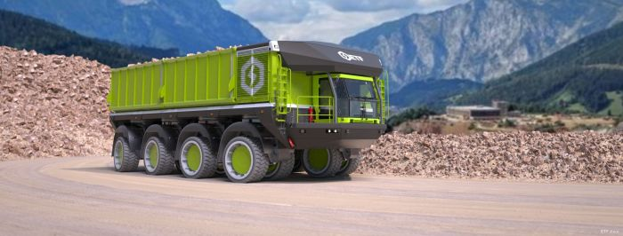 The special all-electric truck from ETF Equipment