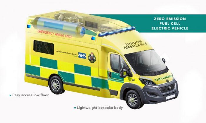 Ambulancia de hidrógen con pila para Londres