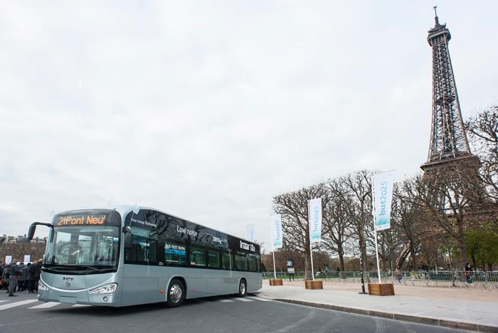 Irizar i2e electric bus - pre-selected for Paris