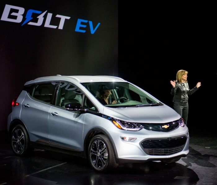 Chevrolet Bolt electric car with 200 miles range