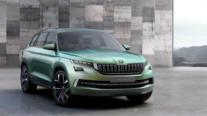 Skoda get electrifying with VisionS plug-in hybrid