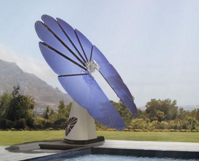 La flor solar inteligente