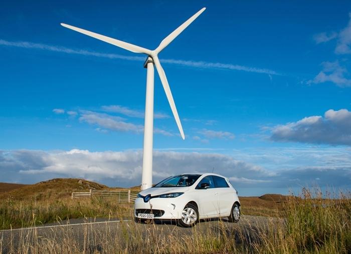 La energía del viento propulsa a los Renault