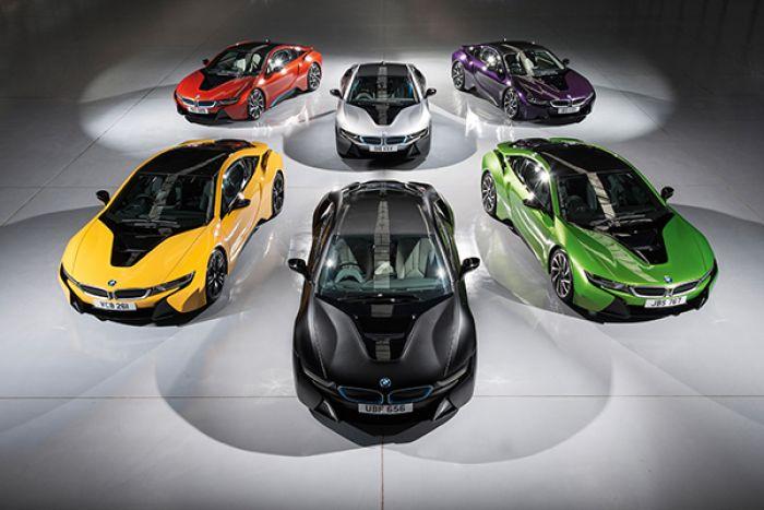 BMW i8 en llamativos colores