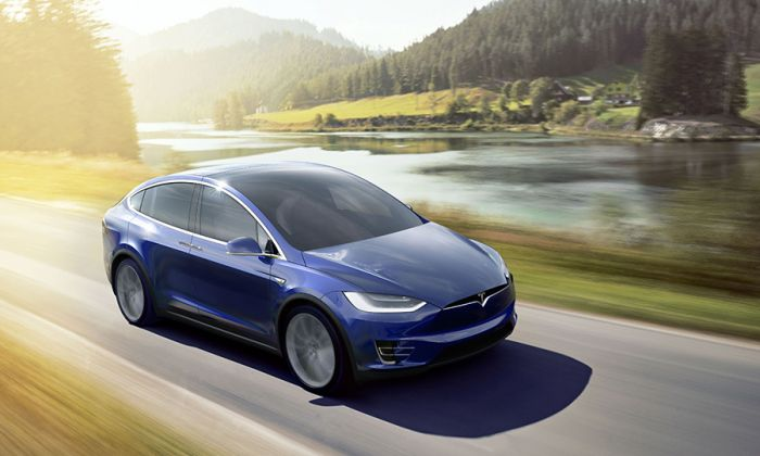 Tesla Model X en Goodwood