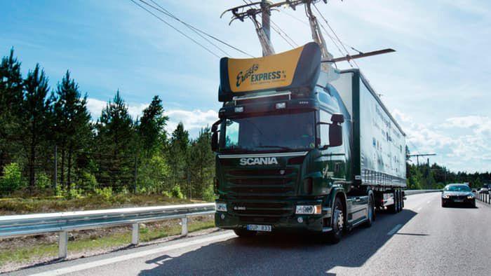 Autopista eléctrica de prueba en Suecia