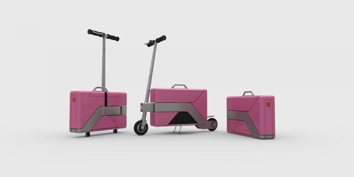 Commute Case, el maletín que se transforma en e-scooter