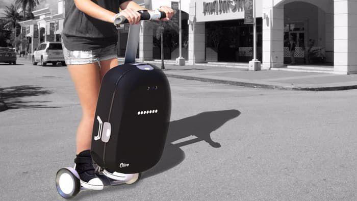 Olive Robotics from Iran presents intelligent suitcase