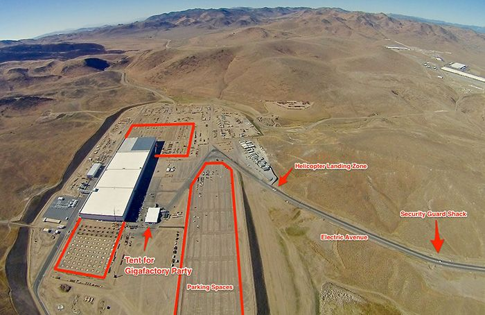 Tesla accelerates the building of the gigafactory