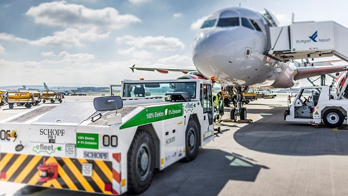 The Stuttgart Airport changed to electric vehicles