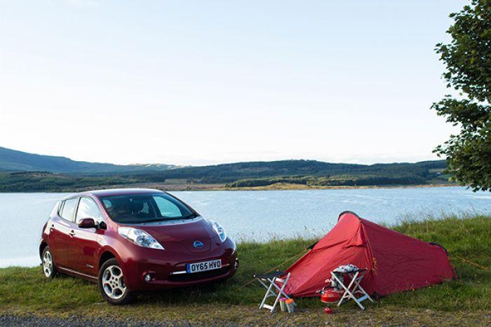 Con el Nissan Leaf de vacaciones