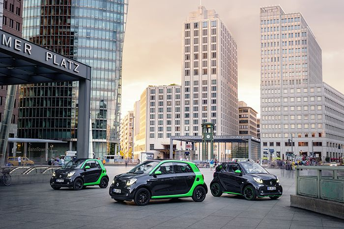 Smart, the entire range electrified