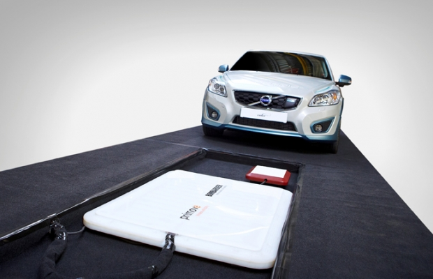 Volvo studies inductive charging of electric vehicles