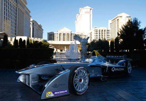 Spark-Renault Electro Fórmula - demostración en las calles de Las Vegas