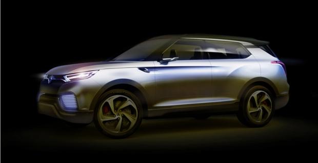SsangYong presents XLV SUV Hybrid Conept at Geneva Auto Show