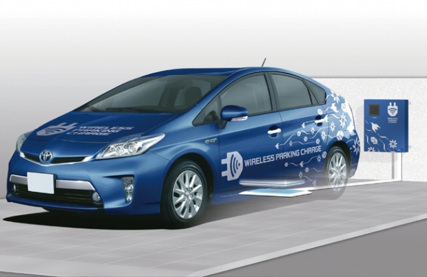Toyota con la recarga inalámbrica