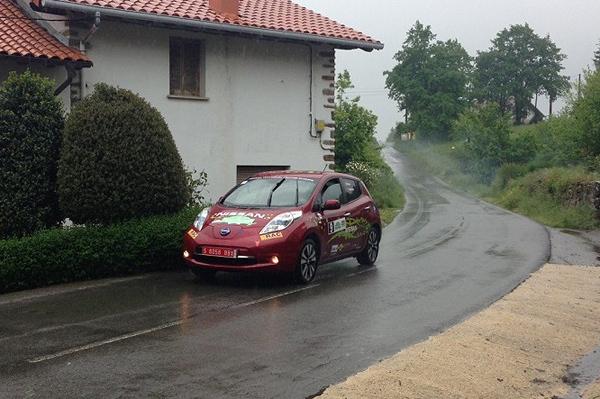 Nissan Leaf, éxito en el EcoRallye Vasco Navarro
