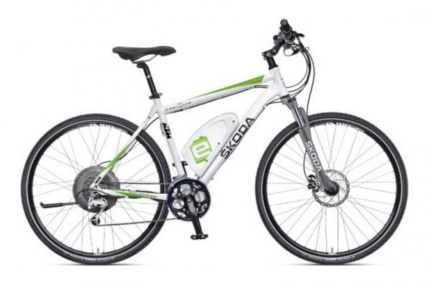 Skoda with an electric bike