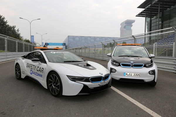 BMW i8 safety car at Formel E