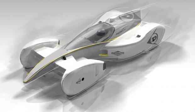 El coche de carrera de futuro, por Dunlop y Sergio Rinland